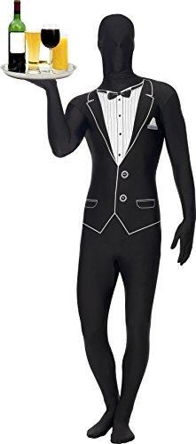 Skin Costume Tuxedo Suit (Smiffy's Second Skin Tuxedo Costume, Black/White,)