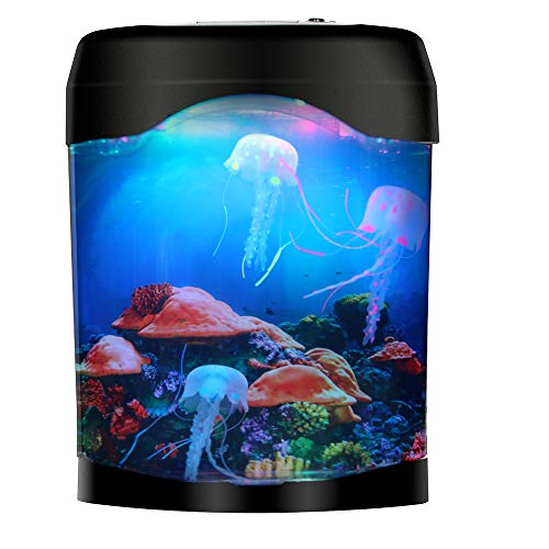 Gift for Kids Men Women Birthday Christmas Holiday - Electric Jellyfish Tank Aquarium Lamp for Home -