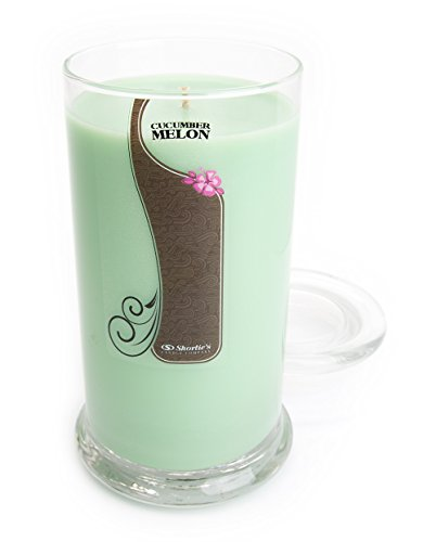 Cucumber Melon Candle - Large Green 16.5 Oz. Highly Scented Jar Candle - Made with Natural Oils - Fresh & Clean Collection