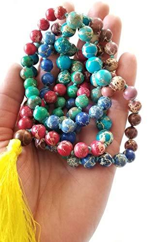 Amazon.com: Tie Dye Mala ~ 108 Bead Rainbow Yoga Prayer ...