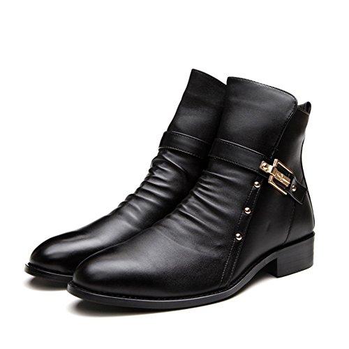 Nero Nero Nero pelle vintage 2018 inverno Nuovi stivali stivali stivali stivali da Martin in uomo e da coreani uomo TMKOO stivali autunno xnBUT4qw1w