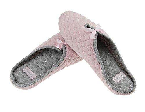 Très Et Pink Coton Taille Mignon Doublure Avec Doux Hiver Chaussons Souple Pantoufle Pour 37 Fille Femme 38 En Printemps Automne H6wWH4RxYq