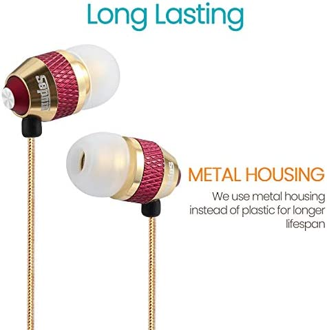 Wired Earbuds Sephia SP1050 Noise Isolating Earphones Portable in Ear Earbud Headphones Bass Driven