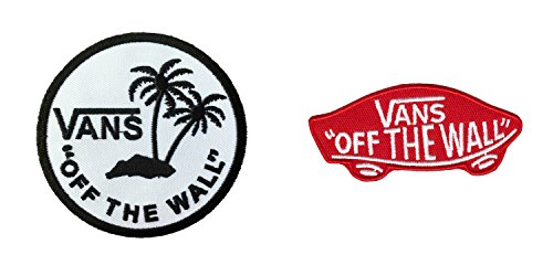 (Vans Off The Wall Embroidered Sew/Iron On Patch InspireMe Family Owned 2 Pack)