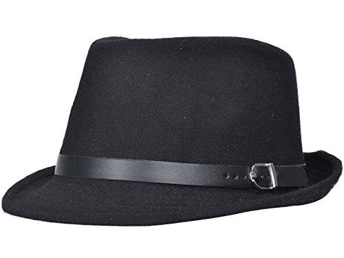 Wool Stripe Fedora Hat - 1