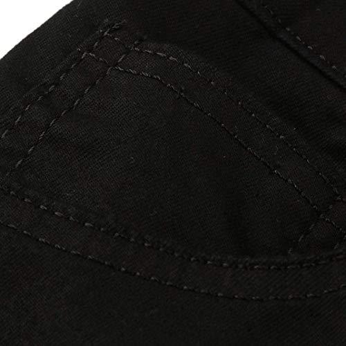 Stile Semplice Casual Original Base Moto Slim Nero Estivi Straight Pantaloni Jeans Streetwear In Da Uomo Regular Fit Denim I6HwUnq80