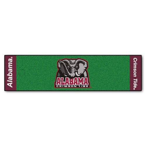 FANMATS NCAA University of Alabama Crimson Tide Nylon Face Putting Green Mat