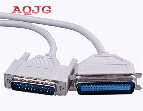 Computer Cables 1.5m DB25 to CN36 Parallel Printer Dot Matrix Data Cable 25 pin to 36 pin Parallel Printing Line Yoton 3m 5m 10m - (Cable Length: 150cm)