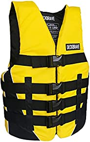 DECKBRAVE Adult Type I PFD Canadian ULC Approved Life Jacket Nylon Foam Life Vest for Water Sports