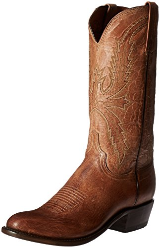 - Lucchese Bootmaker Men's Crayton-tn Burn Md Goat Riding Boot, Tan Burnish, 13 D US