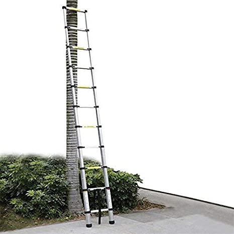 11 Sprossen Teleskopleiter faltbare Leiter Aluminium Stehleiter Multifunktions Aluleiter Anlegeleiter Mehrzweckleiter f/ür industrielles oder Haushalt Hongyans 3.2M