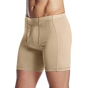 Minus33 Merino Wool Clothing Men's Acadian Lightweight Boxer Brief, XX-Large, Desert Sand