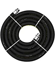 """Groz 44077 Replacement Fuel Hose (Anti Static), 12' Long x 3/4"""" ID, Complete with 3/4"""" NPT (M) Connections"""