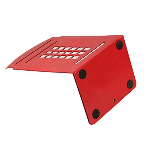 Gearmax 2 Pezzi Fermalibri in Metallo Rosso Cabina Telefonica