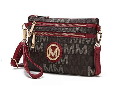 MKF Crossbody Bags for Women - Removable Adjustable Strap Handbag Wristlet - Small Vegan Leather Messenger Purse Red ()