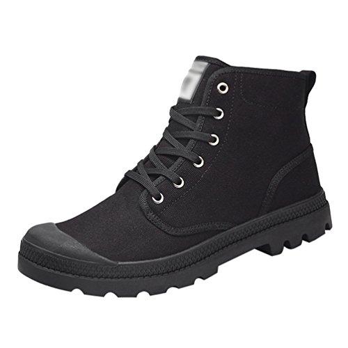 Anguang Nero Unisex Guida da Sportivo Tela Scarpe Alte 1 Traspirante Stringata Scarpe di Sneakers rFgqxrf7w