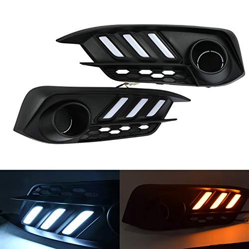 Pair of LED Daytime Driving Lights Daytime Running Lights Turning Lights for 2016-2018 Tenth Generation Honda Civic- FC1, FC2, FC3, FC4
