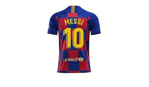 Amazon.com : skiskii Barcelona Home Messi #10 Soccer Jersey ...