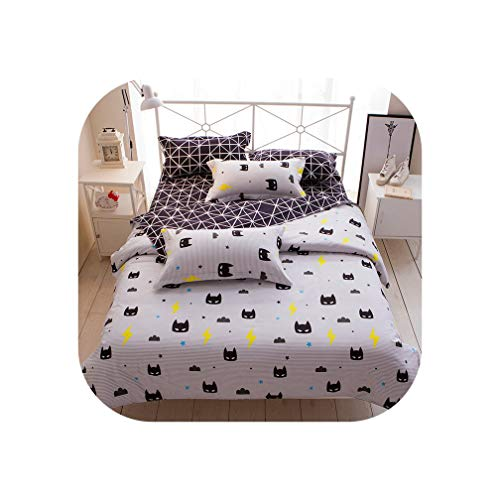 Gooding Day Flower, Fruit, fashion3/4pcs Bedding Sets/Bed Set/Bedclothes for Kids/Bed Linen Duvet Cover Bed Sheet Pillowcase,Twin Full Queen,001,Twin 4pcs Big Sheet
