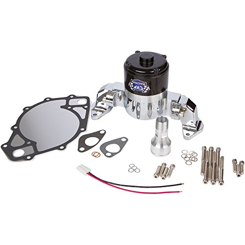 Ford Small Block Electric Water Pump - 35 GPM, Chrome Aluminum, 289, 302, 351W, 5.0L, - Bracket Alternator 302 Ford