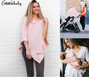 Baby Breastfeeding Cover Loose Mother Women Nursing Wide Privacy Poncho Stylish Nursing Cover Scarf Breathable Baby Car Seat Canopy Infinity Shawlfor Newborn Baby