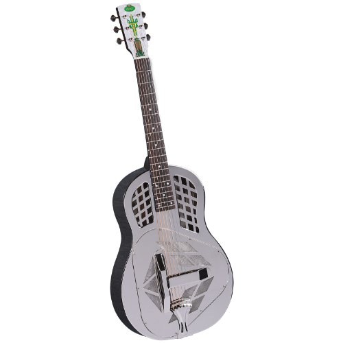 Regal RC-51 Metal Body Tricone Resophonic Guitar - Nickel-Plated Brass