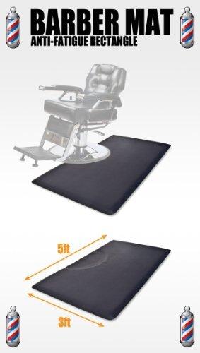 5' x 3' Barber Hair Salon Anti Fatigue Floor Comfort Work Mat Rectangle 1/2