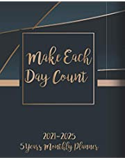 2021-2025 Monthly Planner 5 Years - Make Each Day Count: Five Year Monthly Planner 2021-2025 with Goals | 60 Months Calendar | Organizer & Business Planners with Federal Holidays & Inspirational Quotes - Elegant Gold & Black Cover - Lovely Gift
