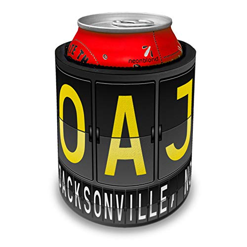 - NEONBLOND OAJ Airport Code for Jacksonville, NC Slap Can Cooler Insulator Sleeve