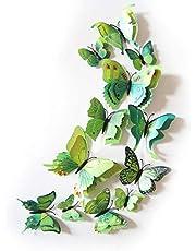 زينة حائط على شكل فراشات ثلاثية الابعاد - اخضر-GF-137