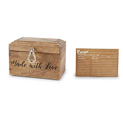 Mud Pie Bridal Cards Recipe Box Brown -