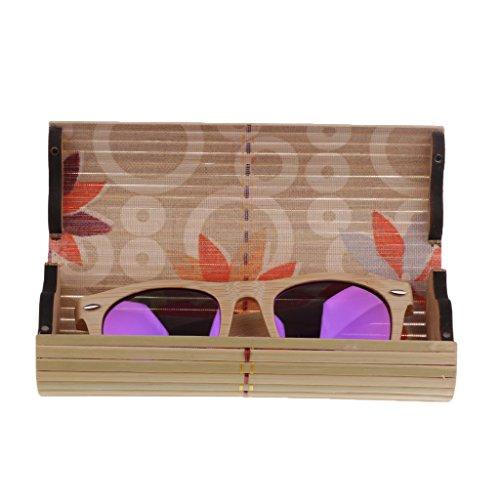 Boîte Lunette Bois Soleil Lunette Polarisées boîte Cadre de Verre SM Accessoires de en SunniMix violet Aqx1Ewz