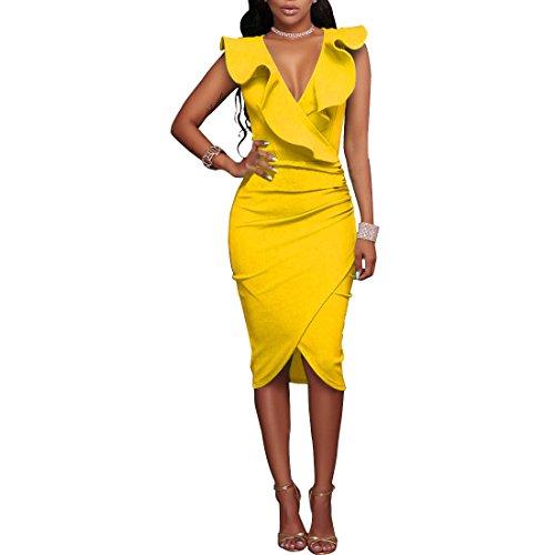 ALAPUSA Womens V neck Sleeveless Falbala product image
