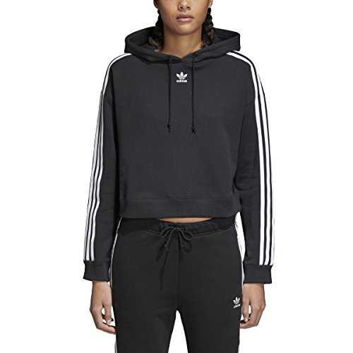 adidas Originals Women's Cropped Hoodie, Black, S