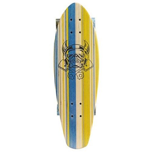 Laser Cut Logo Yellow Tiger Trick Cruiser Shape Skateboard