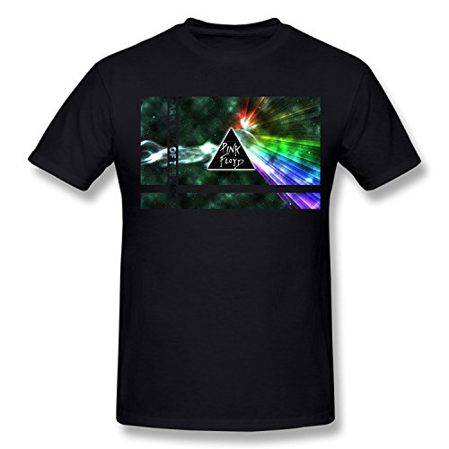 (TCOO Boy's Dark Side Of The Moon Pink Floyd T-Shirt black L )