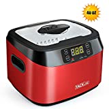 Ultrasonic Cleaner, Tacklife MUC01 40 Ounces(1.2L) Professional Ultrasonic Jewelry Cleaner with Digital Timer, Degas Function, Watch Holder, SUS Tank for Cleaning Eyeglasses, Watches, Dentures, Fruits