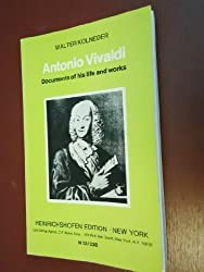 Antonio Vivaldi: Documents of his life and works