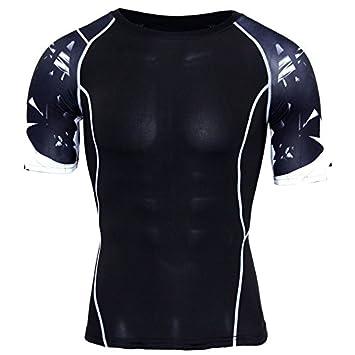 STRIR Conjunto Camiseta Compresión Ropa Deportiva Hombre ...