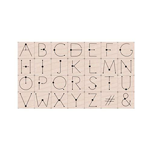 Hero Arts LP485 Woodblock Stamps, Modern Dot Alphabet