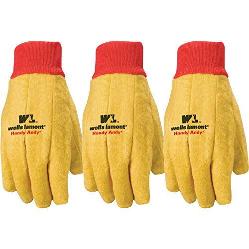 - Wells Lamont Polyester and Cotton Chore Gloves, Standard Weight, One Size, 3 Pack (300F)