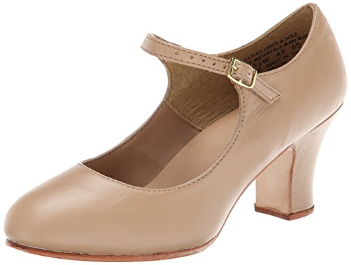 Capezio Women's Manhattan Character Shoe,Caramel,10 W - Athletic Janes Leather Mary