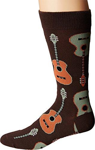 Socksmith Guitars Brown 10-13 (Mens Shoe Sizes 7-12.5)