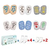 Baby Socks Gift Set, Shower Gifts Newborn Funny Present, Unisex Color, 6 Pair, For 3-12 Months Boys and Girls