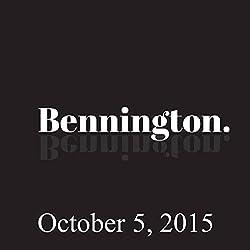 Bennington, October 5, 2015