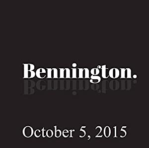 Bennington, October 5, 2015 Radio/TV Program