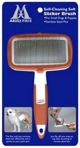 Millers Forge Self Cleaning Soft Slicker Brush, My Pet Supplies
