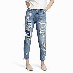 Women's Vintage High Waist Distressed Ripped Jean
