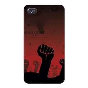 "Apple Iphone Custom Case 4 4s Snap on - ""Revolution"