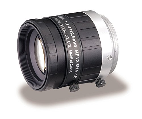 Fujinon HF12.5HA-1B 12.5mm F/1.4 Fixed Focal Lens for 2/3'' CCD, C-Mount, Locking Iris/Focus, Industrial and Machine Vision